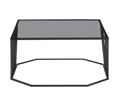 Trent Coffee Table With Grey Glass Top