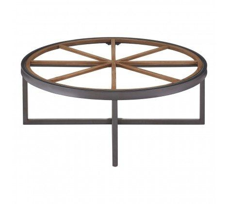 Trinity Round Glass Top Coffee Table