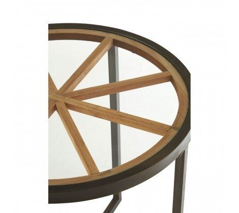 Trinity Round Glass Top Side Table