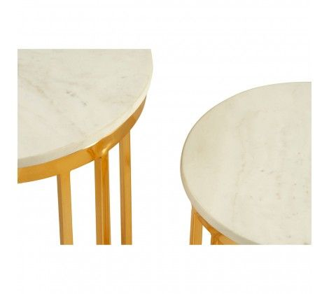 Trinity  Set of 2 Linear Design Side Tables