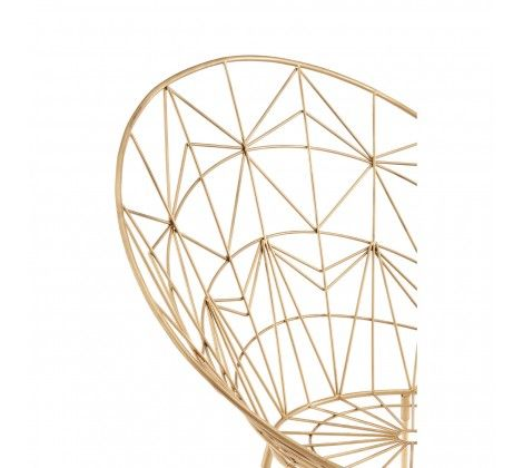 Trinity Spider Web Design Iron Chair