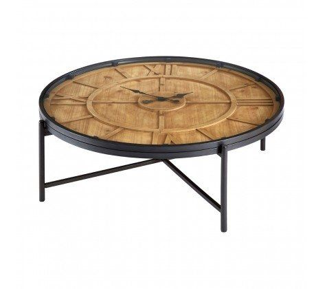 Trinity Round Clock Face Coffee Table