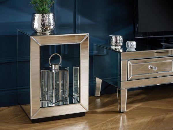 Turia Mirror Lamp Table