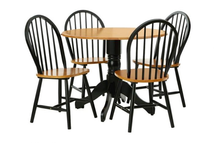 Vermont Rubberwood Dining Table Set