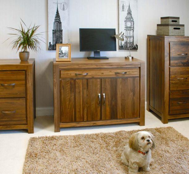 Walnut Hidden Home Office