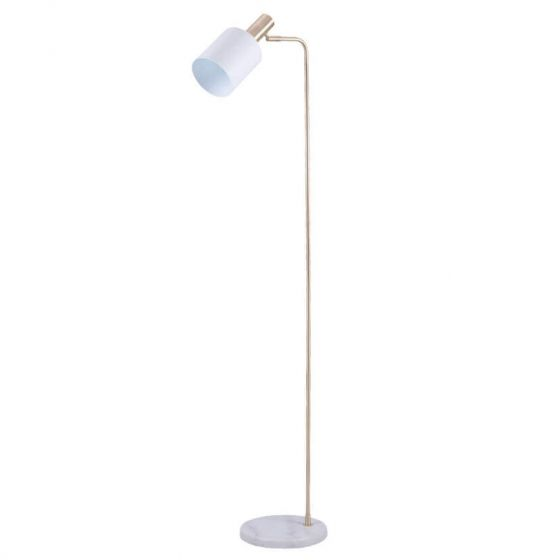 Devere White Marble & Gold Floor Lamp