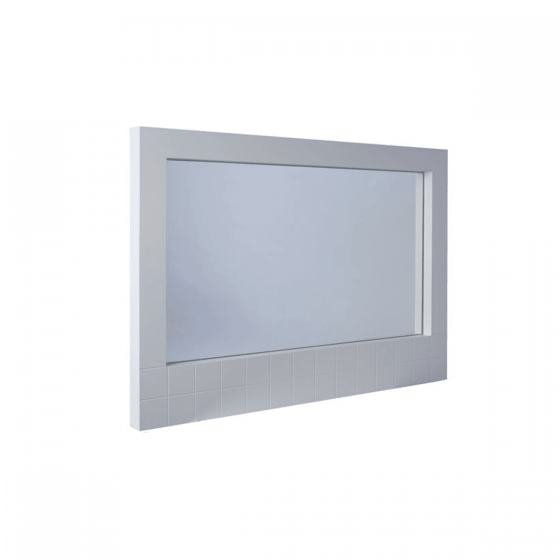 White Retro Cube Wall Hanging Mirror