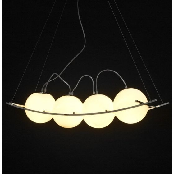 White 4 Ball Retro Ceiling Light