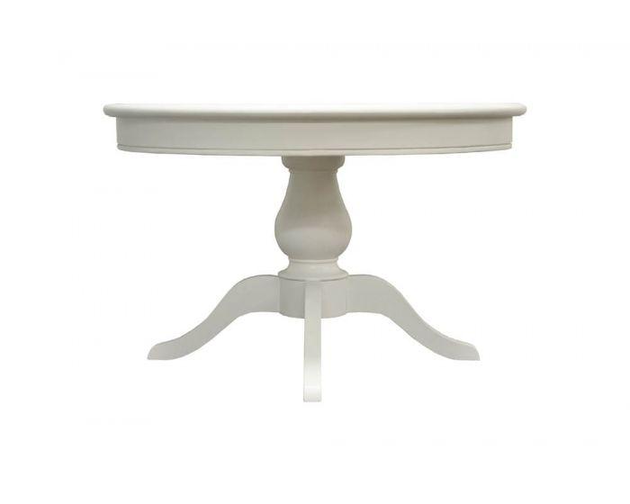 William Round White Dining Table