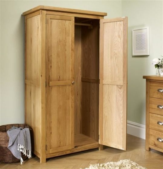 Woburn Oak Double Wardrobe