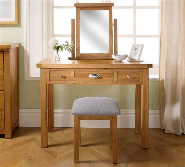 Woburn Oak Dressing Table