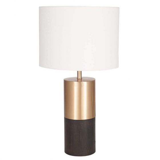 Pennington Wood and Gold Metal Table Lamp
