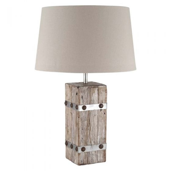 Wooden Heavy Cotton Table Lamp