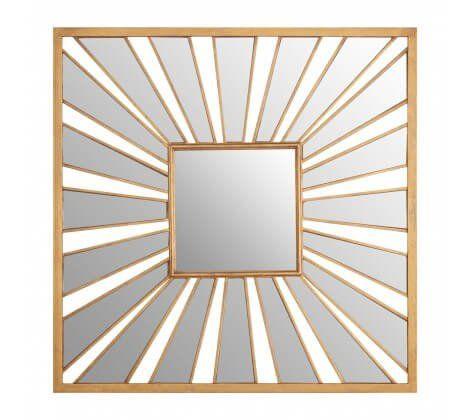 Zara Square Sunburst Gold Mirror