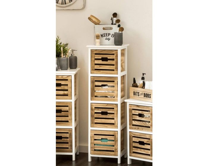 Paulownia Natural Bathroom 4 Drawer Chest