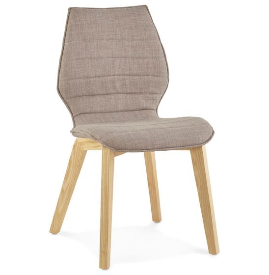 Bora Solid Ash Fabric Grey Chair