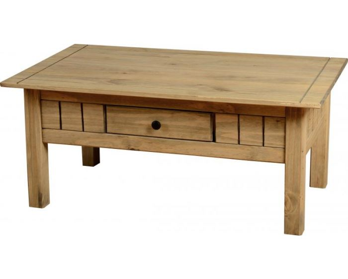 Panama Wax 1 Drawer Coffee Table
