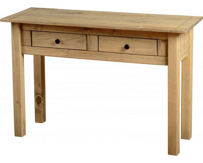 Panama Wax 2 Drawer Console Table