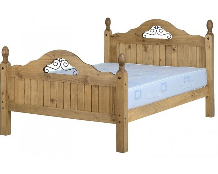 Corona Pine Scroll Double Bed Frame