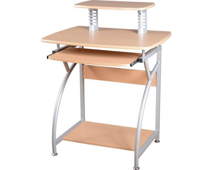 Chico Basics Natural Wood and Silver Computer Desk