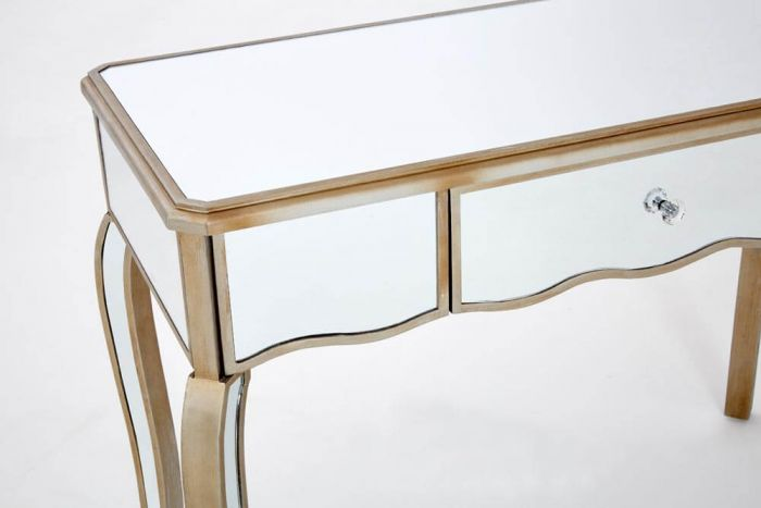 Mirrored French Champagne Console Table