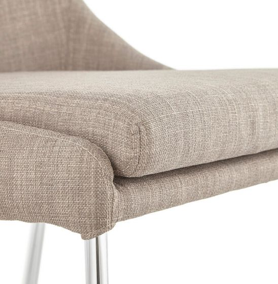 Bo Woven Fabric Beige Chair