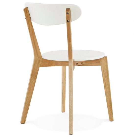 Petronilla Solid Oak White Chair