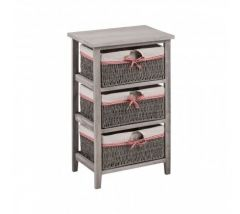 3 Woven Basket Cotswold Drawer Chest