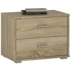 4 You 2 Drawer low chest / Bedside in Sonama Oak