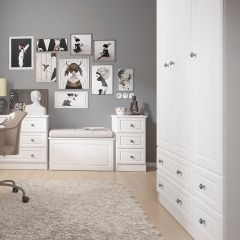 Cheshire White Double Wardrobe