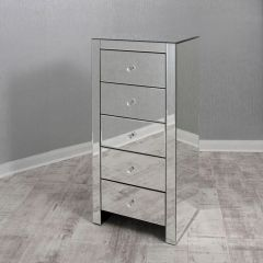 5 Drawer Mirrored Tallboy