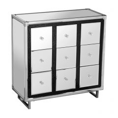 9 Drawer Cabinet In Stainless Steel