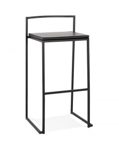 Adeline Metal Slim Black Bar Stool