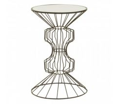 Andrea Iron Black Finish Side Table