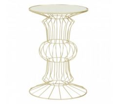 Andrea Iron Light Gold Finish Frame Table
