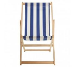 Angelina Blue and White Deck Chair