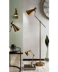Antique Brass Metal Conical Wall Light