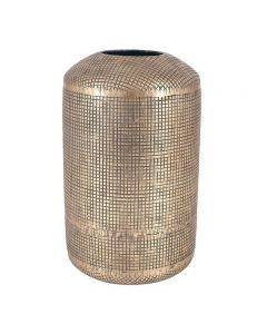 Antique Brass Metal Cylinder Vase