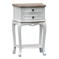 Appleby Shabby White Bedside Table