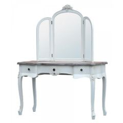 Appleby Shabby White Dressing Table Mirror