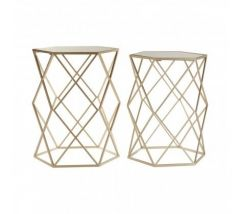 Arcana Champagne Boutique Set of 2 Tables