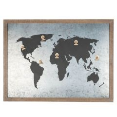 Around The World Magnetic Notice Board