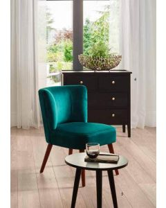 Mario Narrow Forest Green Velvet Chair
