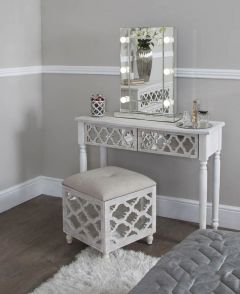 Beach Walk Mirrored 2 Drawer Console Table