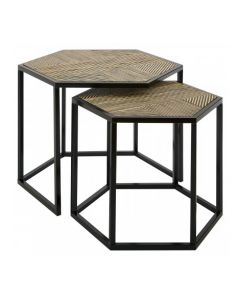 Berit Set of 2 Natural Side Tables