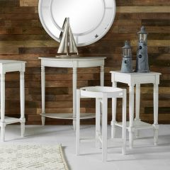 Beth Rustic White Pine Folding Side Table
