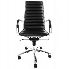 Isabelle Black Padded Computer Chair