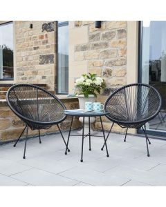 Black Rio 3 Piece Bistro Set