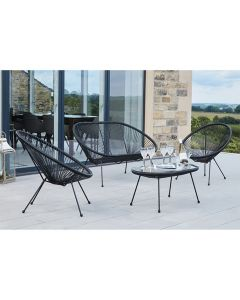 Black Rio 4 Piece Seating Set