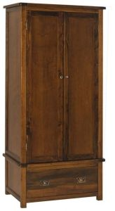 Boston 2 Door 1 Drawer Wardrobe - Handcrafted